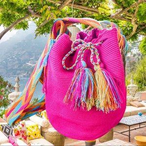 Wayuu Tribe jardin del Cielo mochilla bag pink